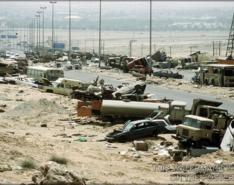 Poster, Many Sizes Available; Highway Of Death,Kuwait During Operation Desert Storm Highway 80