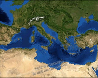 Poster, Many Sizes Available; Mediterranean Sea
