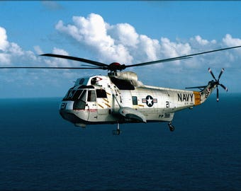Poster, Many Sizes Available; U.S. Navy Sikorsky Sh-3G Sea King Helicopter 1983
