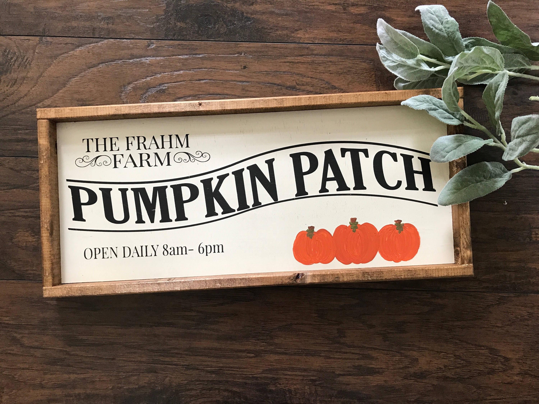 Pumpkin Patch Sign Pumpkin Patch Personalized Pumpkin