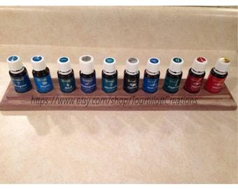 Essential Oil Stand/Rack/Organizer/Shelf/Custom/Handmade holds 10 (15ml) bottles