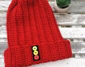 He's The Zissou Beanie //The Life Acquatic Steve Zissou Ribbed Crochet Hat Slouchy Beanie