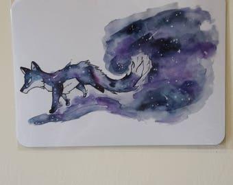 "5x7"" Galaxy Fox - Space Art Print"