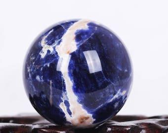 Electric Blue Madagascar Sphere Ball, Passion Blue Sodalite, Reiki Healing, Crystal Sphere, Mineral Specimen, Gems#Q439