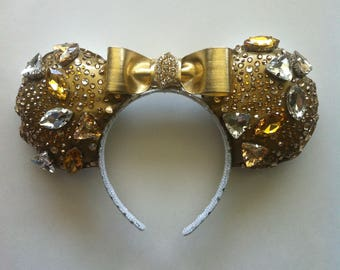 Gold Jeweled Mickey Ears