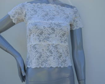 Lace lace short sleeve, tank top
