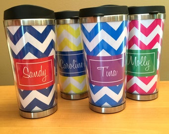 Custom Coffee Cup - Personalized Stainless Travel Mug - Travel Coffee Tumbler - Teacher Gift