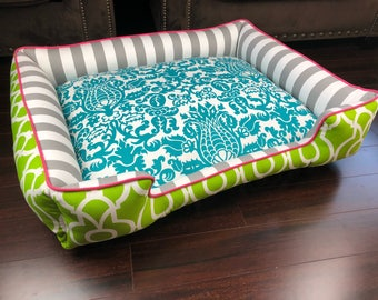 Dog Bed Large | Custom Dog Bed (FREE PERSONALIZATION and you choose the fabric)