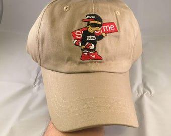 Sale! Supreme Hat Skater Kid Embroidered Strapback Unstructured Dad Hat Khaki