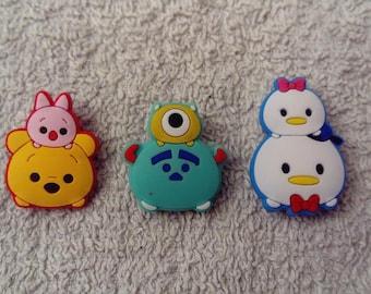 Lot 3 jibbitz Tsum Tsum (badges for fangs)