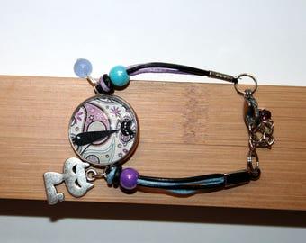 Haloween Chat Noir Paisley bracelet