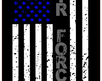 Air Force distressed flag SVG File, Quote Cut File, Silhouette File, Cricut File, Vinyl Cut File, Stencil