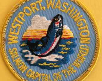 Westport, Washington, Salmon Capital of the World Vintage Travel Souvenir from IAAC