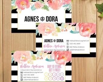 PRINTABLE Agnes and Dora Business Card, Agnes and Dora Punch Card, Business Cards, Digital File AG029