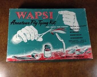 WAPSI Amateur Fly Tying Kit Professional Quality Vintage 1960's