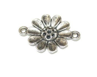 16mm antique silver flower connector