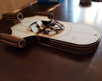 Similar to Star Wars Landspeeder wood laser cut model
