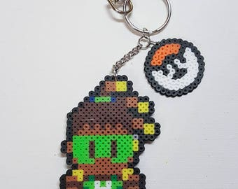 Lucio inspired Overwatch mini perler beads keychains