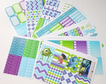 Monsters Weekly Planner Sticker Kit and Washi