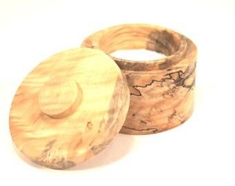 Wood Salt Cellar Box