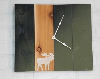 Wood Wall Clock - The Medium Moose