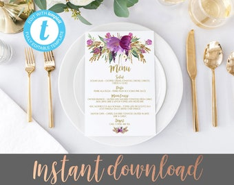 printable wedding menus, Wedding menus, wedding menu, roses wedding menu, wedding menu cards, printable menu cards, wedding menu card