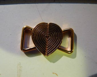 Metal clasp for swimwear gold lingerie or bath. 2.4 x 1.6