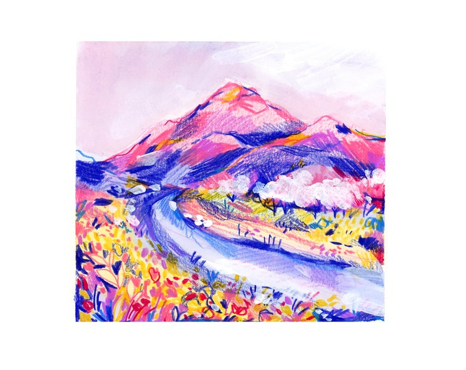 Mountain Landscape 2 -- Art Print