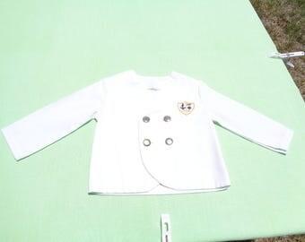 vintage boys nautical sailor jacket size 2t see measurements no size tag white