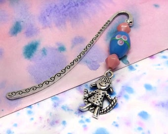 Girl bookmark - Bookmark for girl - Cute bookmark - Handcrafted bookmark - Small bookmark -  Reading bookmark - Pink and blue bookmark