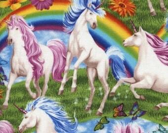 Technicolor Unicorns / custom fabric