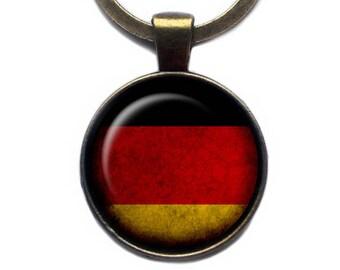 Germany German Deutschland Flag Keychain Keyring