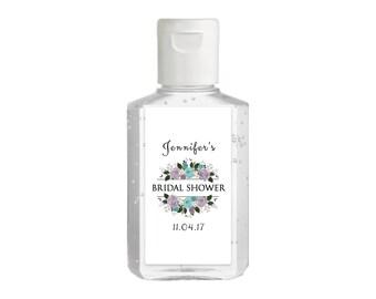 Purell hand sanitizer labels 2 oz. size bottle - Bridal Shower Labels - Bridal Shower Hand Sanitizer Labels - Bridal Shower Decor - Lavender