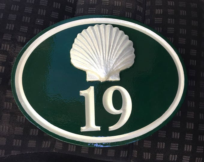 "Handcrafted house number signs - with figure 1-2 numbers 10"" x 17"" x 1"""