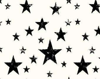 Avalana Knits by Stof Fabrics of Denmark - Stars on Cream - Cotton Spandex Knit