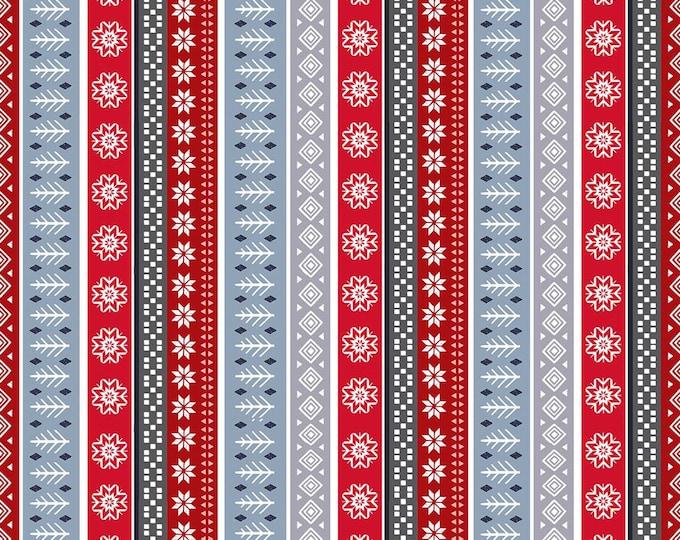 Snow Delightful by Studio E - Fair Isle Stripe - Cotton Woven Fabric