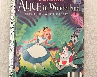 Disney Alice In Wonderland Little Golden Book