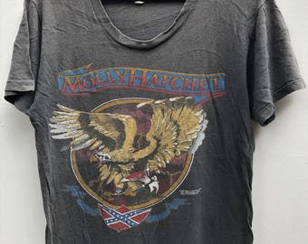 VINTAGE 1980 MOLLY HATCHET  rock metal tour concert t shirt