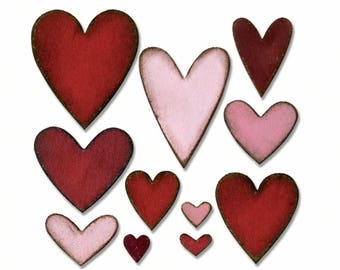 HEART- Iron On Applique- Sew On Applique- Die Cut Material- Cut Quilting Fabric- Fabric Pieces- Heart- Fabric Heart- Heart Shape- Heart Felt
