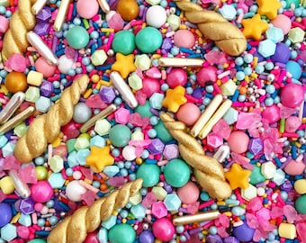 Unicorn Sprinkles. Unicorn Sprinkles Australia. Unicorn horn sprinkles ™ Sprinkles Shop AUS. Edible unicorn horns. Cake sprinkles australia.