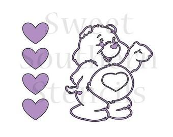 Cute Bear PYO Cookie Stencil