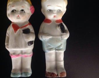 Vintage Bisque Frozen Charlotte Doll 1940s