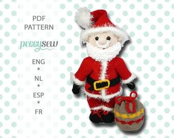 Maxi Santa, amigurumi crochet pattern, PDF, ebook
