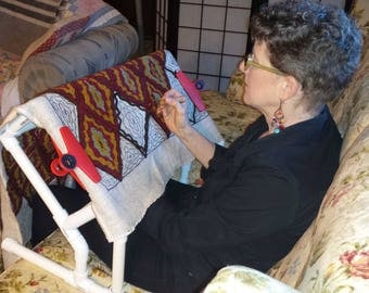 Playing Hookey Deluxe Rug Hooking Frame from Little House Rugs