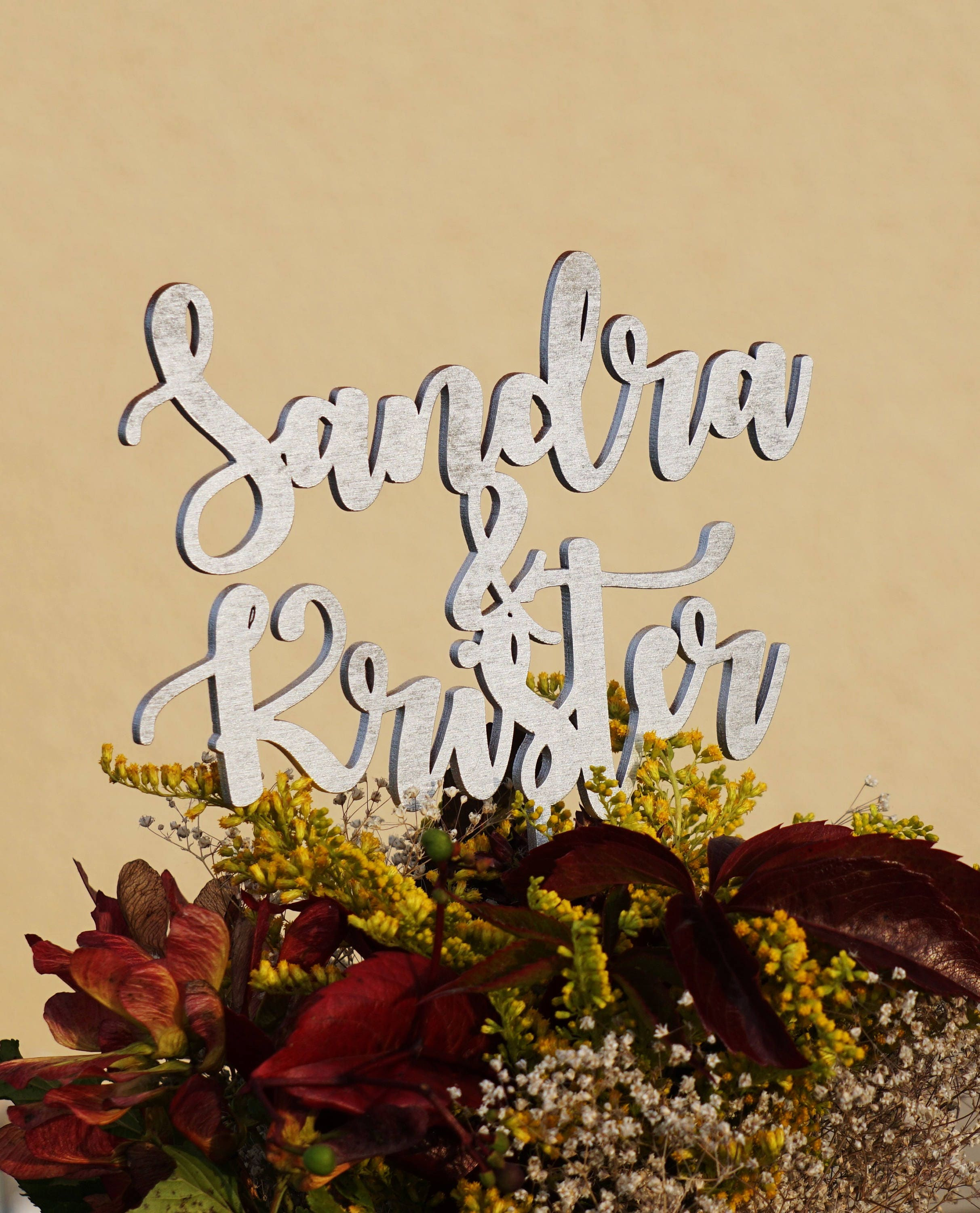 Wedding cake topper couple cake topper couple names cake topper ...