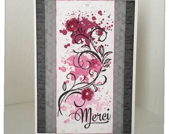 "Card ""Thanks"" centerpieces, home, avs..."
