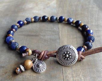 Sodalite bohemian bracelet boho chic bracelet western bracelet gemstone womens jewelry boho chic jewelry boho bracelet rustic bracelet