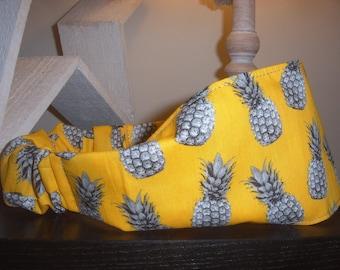 Sparkling yellow pineapple headband