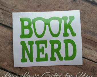 Book Nerd Decal, Librarian Decal, Book Decal, Library Decal, Library, Librarian, Book Lover