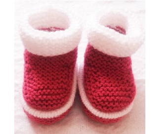 Knitted Baby boots, Baby Booties, Snow Boots, Winter Boots, Hand Knitted Baby Boots, Knitted Baby Shoes, Knitted Winter Boots, Baby Boots